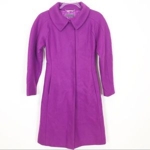 ALBERTA FERRETTI PURPLE WOOL CASHMERE COAT